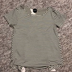 Lace striped top